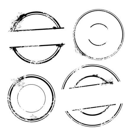 スタンプ セット - テキストなしベクトル スタンプは、  イラスト・ベクター素材