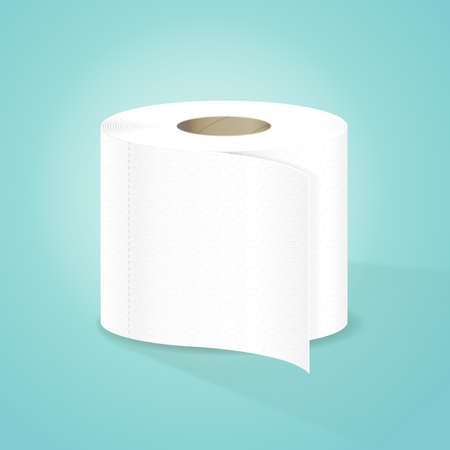 cartoon toilet: Toilet Paper Vector Illustration Illustration