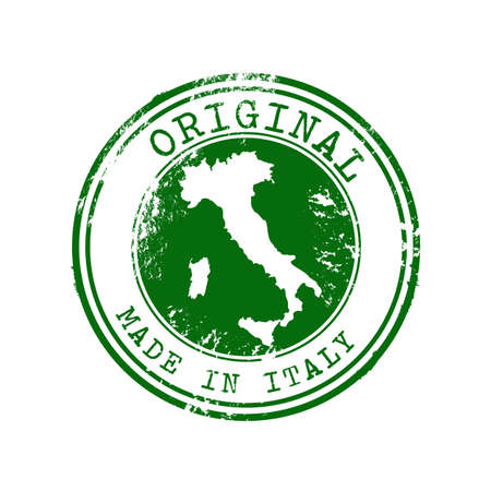 Original Made in Italy Stamp 向量圖像