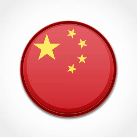 made in china: China Flag Illustration