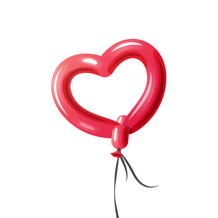 Heart Baloon vector illustration on white background