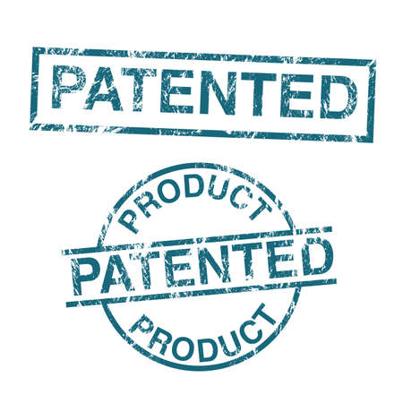 patent: Patented product vector stamps Illustration