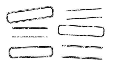 sello: Sellos de muestra - Sellos rectangulares Set Vectores