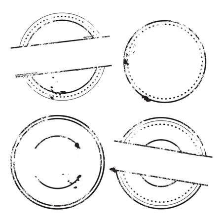 Sample Stamps Vector Set - Rounded stamps Illustration