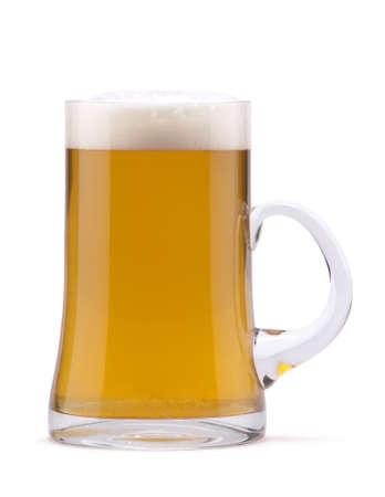 Light beer in mug Stock Photo