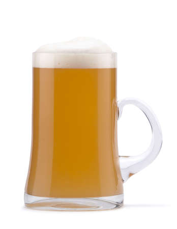 Not filtered beer in mug Stock Photo