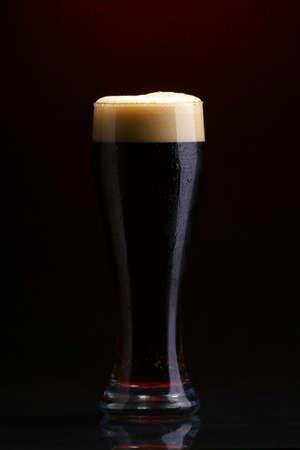 single beer: Dark beer Stock Photo