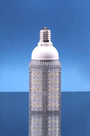 LED lamp; object on blue background photo