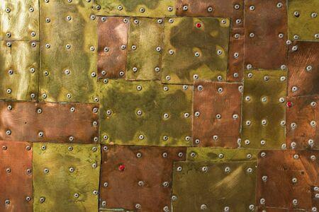 bronze metal texture with high details rivet
