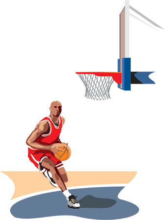 nba: Basketball player Illustration
