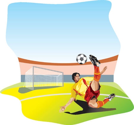 boy feet: Football player Illustration