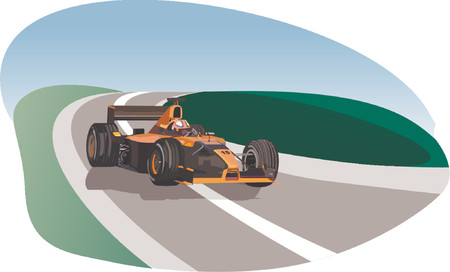 one vehicle: Formula race car