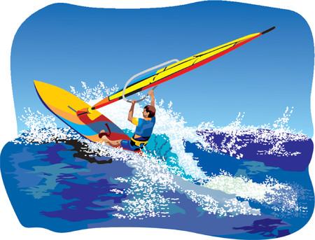 surfer vector: Surfing Illustration