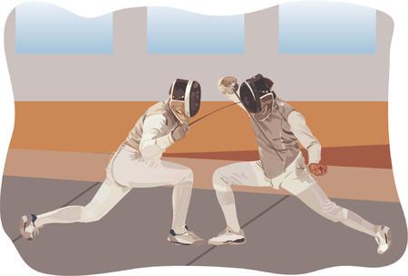 duel: Fencing Illustration