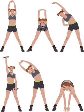 aerobics: Fitness vector series