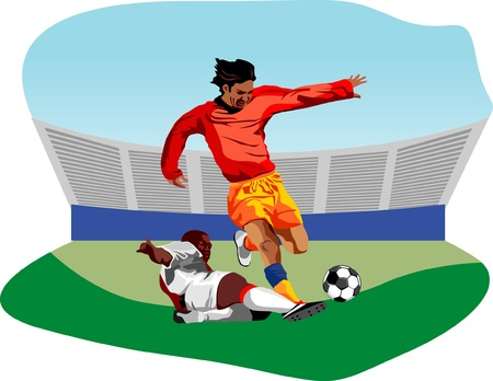 Soccer players Stock Vector - 10758247