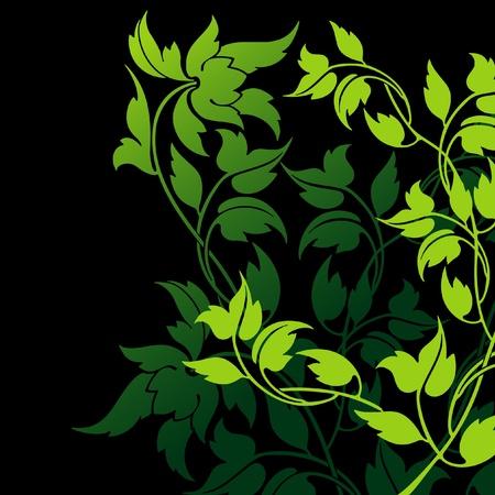Abstract vector floral composition Stock Vector - 10789074