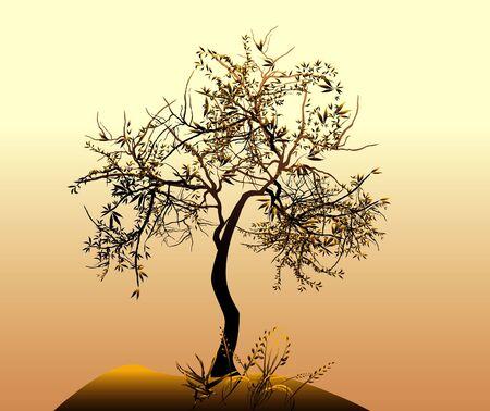 plats: Vector tree Stock Photo