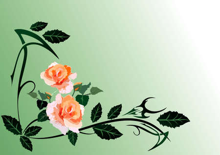 Abstract vector floral composition photo