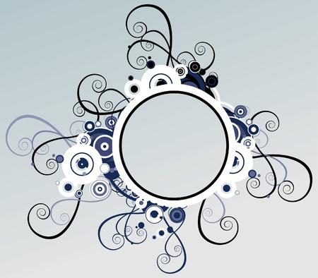 ovals: Vector frame Stock Photo