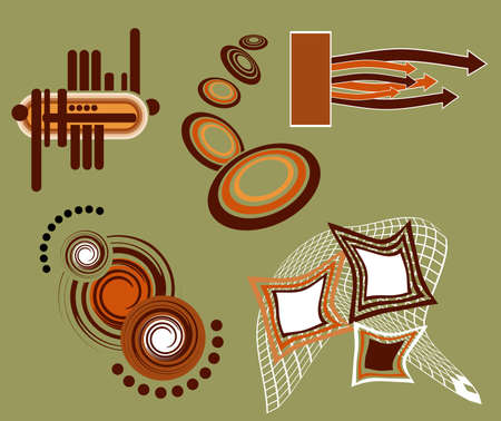 Vector abstract design elements photo