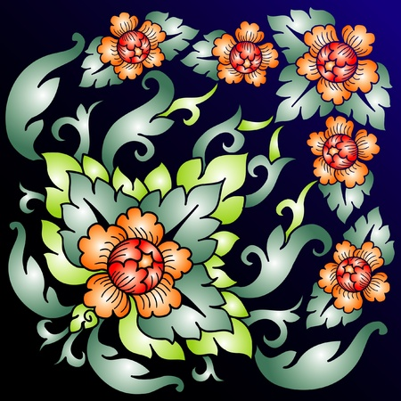 Vector abstract floral composition Illustration