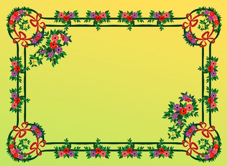 vector abstract colorful frame Illustration