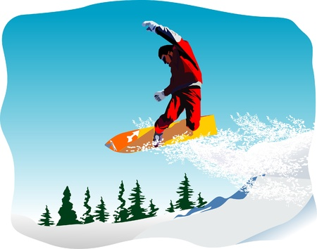 snowboarder: snowboarder vector Illustration