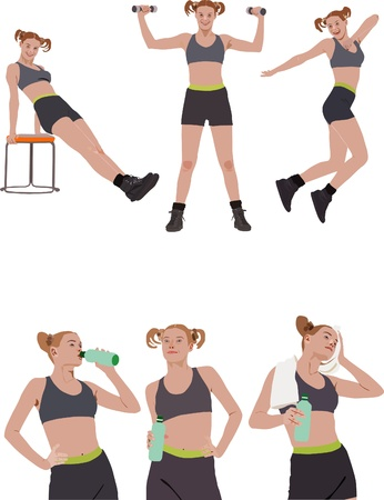 perfect female body: Fitness vector series