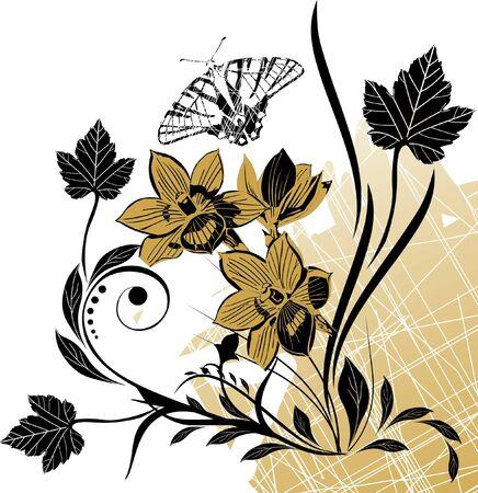 Abstract vector floral composition Stock Vector - 10909842