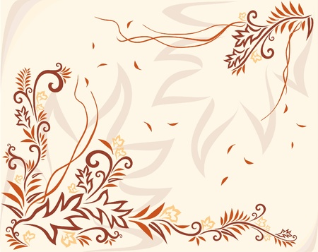 twirls: Abstract vector floral composition