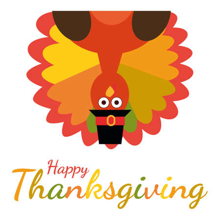 Happy thanksgiving greeting card with funny cartoon turkey vector happy thanksgiving greeting card with funny cartoon turkey vector illustration stock vector 88101559 m4hsunfo