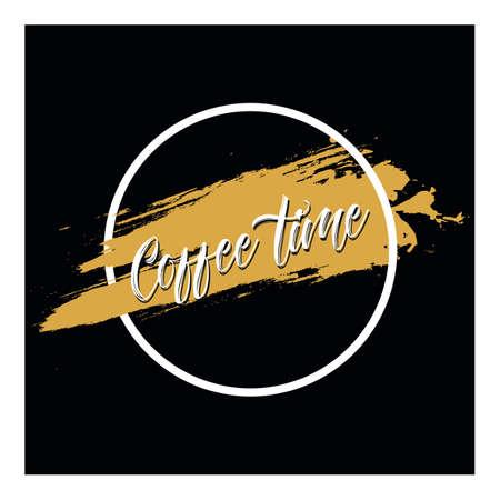 コーヒー フレーズの装飾要素を持つベクトルのポスター。活版印刷カード、文字イメージ