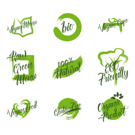 Set of organic product Illusztráció