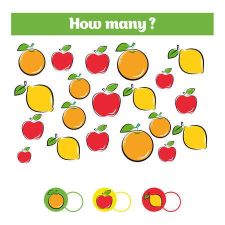 Counting fruits educational children game