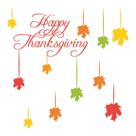 Happy Thanksgiving. Greeting card with funny cartoon turkey Vector illustration
