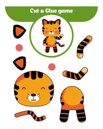 Paper game for preschool students icon.