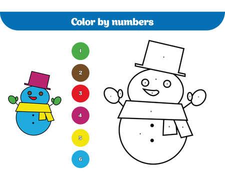 Color Por Número, Juego De Educación Para Niños. Dibujo Para ...