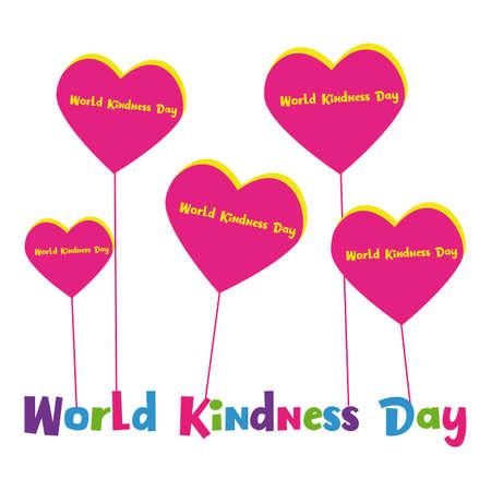 Illustrazione di vettore di giorno di gentilezza del mondo per l'illustrazione di vettore di mondo gentilezza giorno