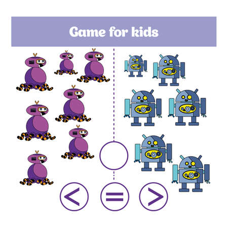 Education logic game for preschool kids. Choose the correct answer. Illustration