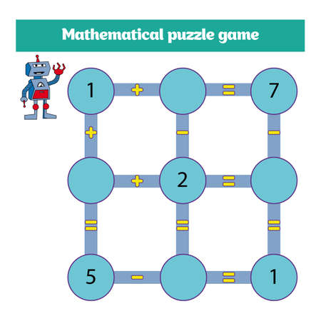 Educational A Mathematical Game For Preschool Kids. Subtraction ...