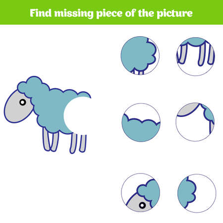Matching children educational game. Match insects parts. Find missing puzzle. Activity for pre school years kids. Stok Fotoğraf - 91375527