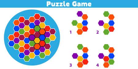 Puzzle. Complétez le motif. Jeu de logique éducative pour les enfants d'âge préscolaire. Illustration vectorielle.