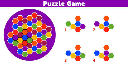 Puzzle game.  Complete the Pattern. Education logic game for preschool kids. Vector Illustration. 向量圖像
