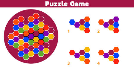 Puzzle game.  Complete the Pattern. Education logic game for preschool kids. Vector Illustration. Ilustrace