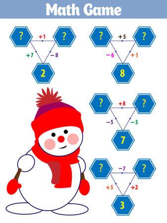 Jeu éducatif de mathématiques pour les enfants. Illustration vectorielle.
