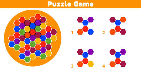 Puzzle game.  Complete the Pattern. Education logic game for preschool kids. Vector Illustration. Illustration