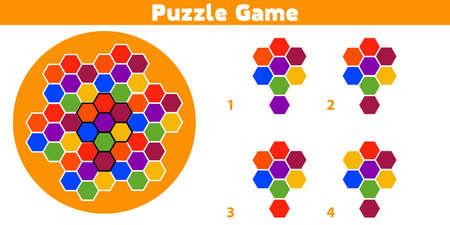Puzzle. Complétez le motif. Jeu de logique éducative pour les enfants d'âge préscolaire. Illustration vectorielle. Vecteurs