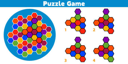 Puzzle game.  Complete the Pattern. Education logic game for preschool kids. Vector Illustration. 矢量图像