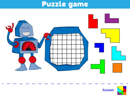Puzzle game.  Complete the Pattern. Education logic game for preschool kids.